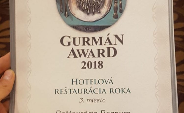 Ocenenie Gurmán Award 2018